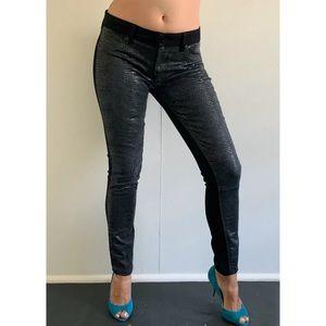 DL1961 'Emma' Python Skinny Stretch Jeans Size 30